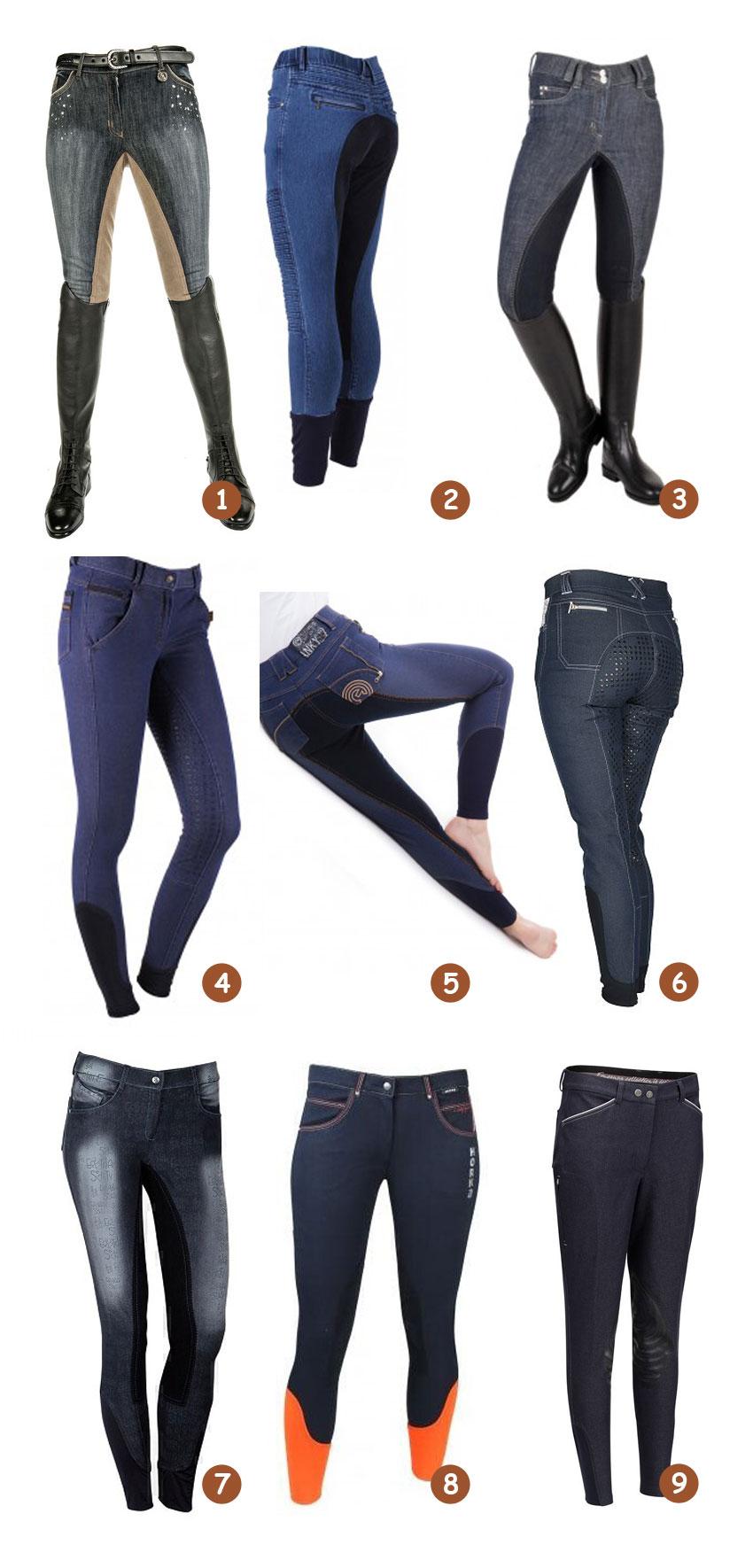 Jeans rijbroeken met iets extra's