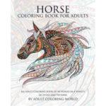 paarden kleurboek volwassenen