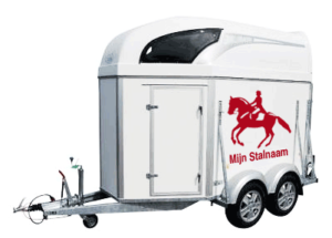 sticker paard als muursticker of op trailer
